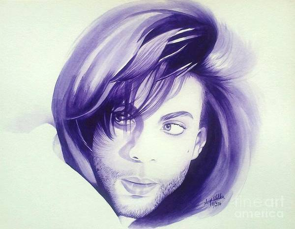 Prince Rogers Nelson Wall Art - Painting - His Royal Badness by Sonya Walker