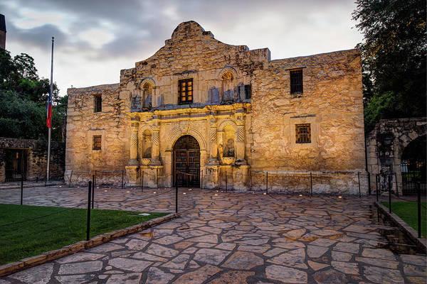 Photograph - Historic Alamo Mission - San Antonio Texas by Gregory Ballos