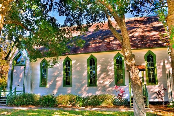 Photograph - Historic Andrews Memorial Chapel Dunedin Florida 3 by Lisa Wooten