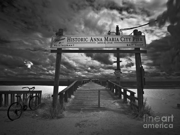 Maria Island Wall Art - Photograph - Historic Anna Maria City Pier 9177436 by Rolf Bertram