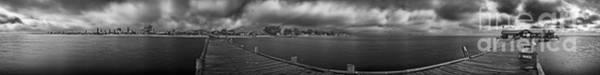 Historic Anna Maria City Pier In Infrared Art Print