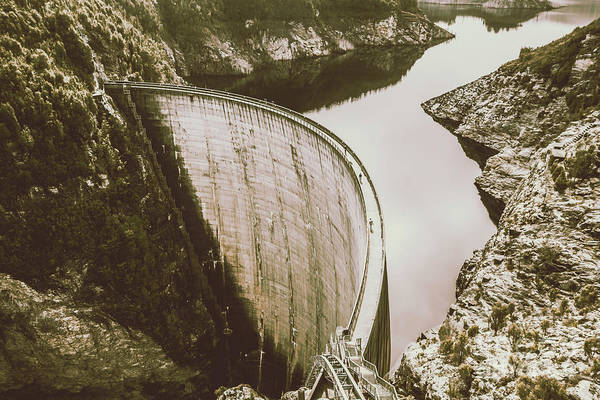 Dam Wall Art - Photograph - Historic Australian Landmark by Jorgo Photography - Wall Art Gallery