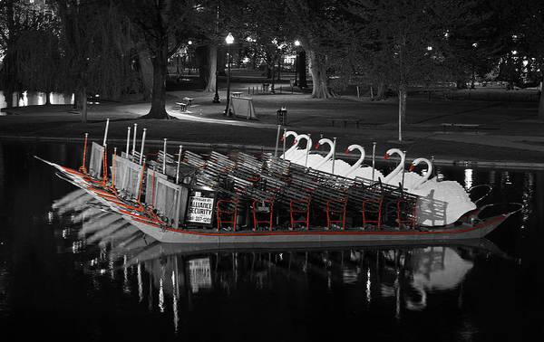 Photograph - Historic Boston Public Garden Swan Boat by Juergen Roth