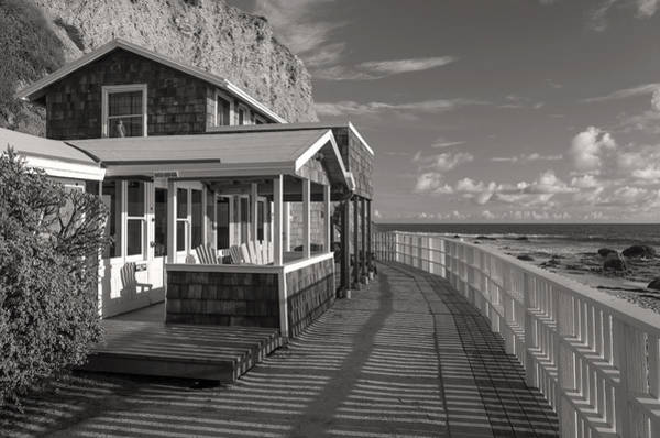 Photograph - Historic Cottage  Crystal Cove Black And White by Cliff Wassmann