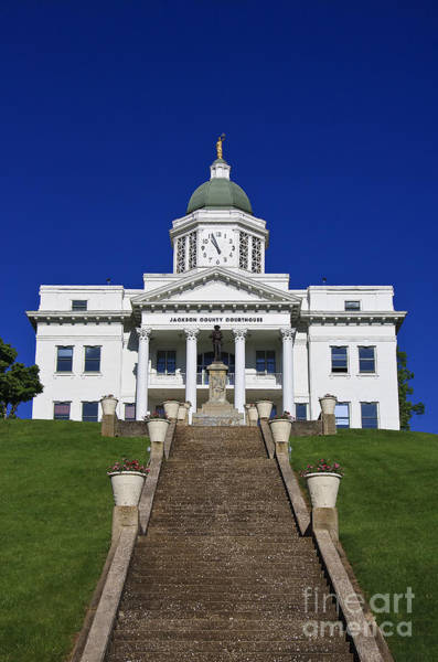 Photograph - Historic Courthouse In Jackson County by Jill Lang