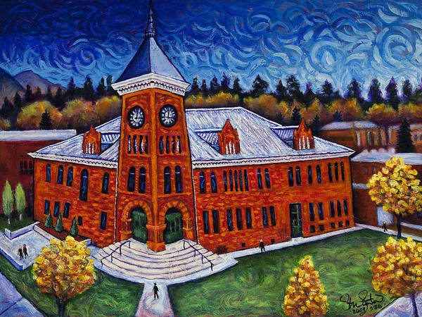 Flagstaff Painting - Historic Courthouse by Steve Lawton