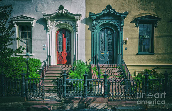 Photograph - Historic Doors Of Charleston On Bull St by Dale Powell