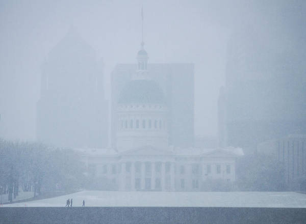 Photograph - Historic Federal Courthouse In The Snow  by Garry McMichael