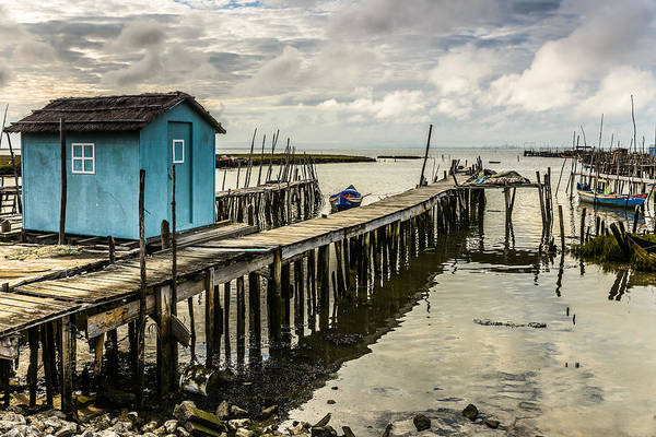 Mud House Photograph - Historic Fishing Pier In Portugal Iv by Marco Oliveira