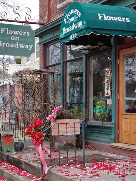 Photograph - Historic Flower Shop Winona Minnesota by Kari Yearous