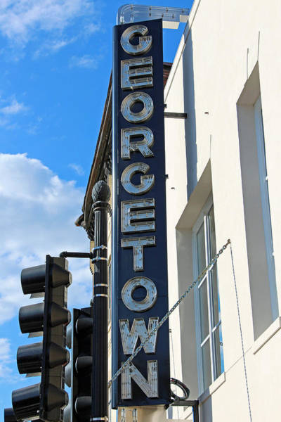 Dumbarton Wall Art - Photograph - Historic Georgetown Movie Theater Sign by Cora Wandel