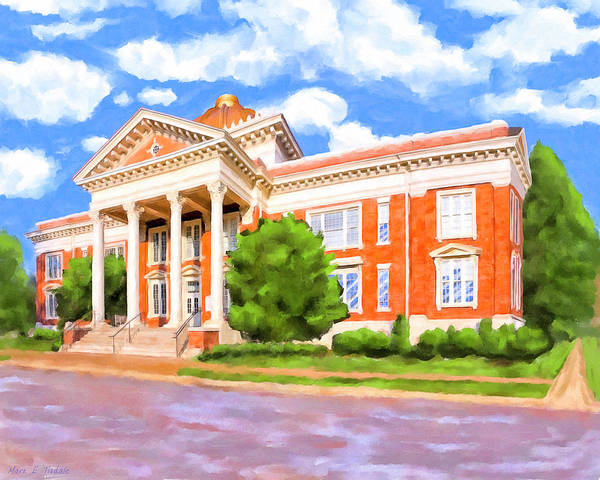 Wall Art - Painting - Historic Georgia Southwestern - Americus by Mark Tisdale