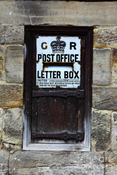 Photograph - Historic Georgian Post Box by James Brunker