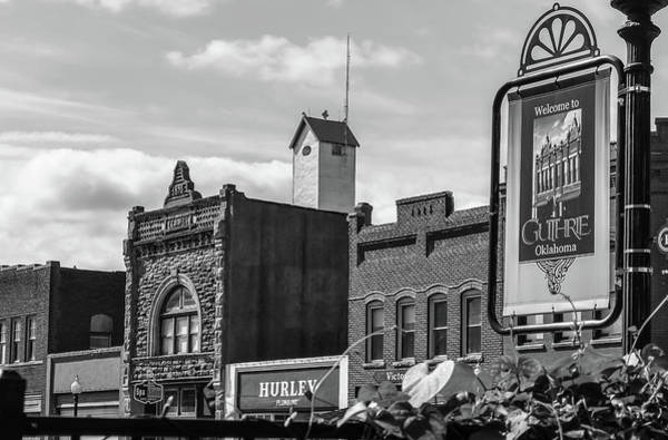 Photograph - Historic Guthrie Oklahoma In Black And White by Gregory Ballos