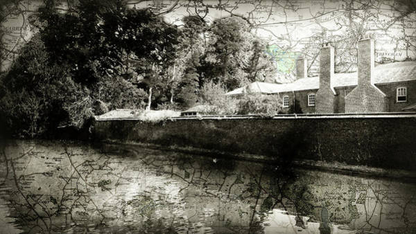 Photograph - Historic Hall Map by Sharon Popek