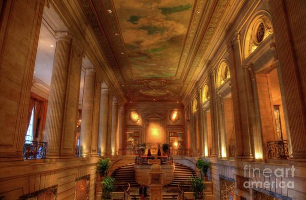 Photograph - Historic Hilton Hotel Chicago by Wayne Moran