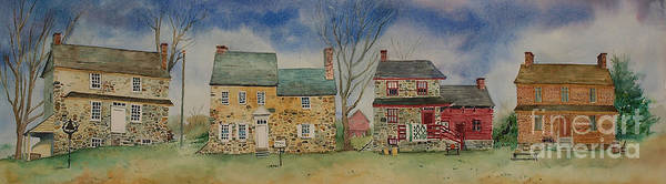 Wall Art - Painting - Historic Homes Of Chadds Ford by Bruce Poulterer