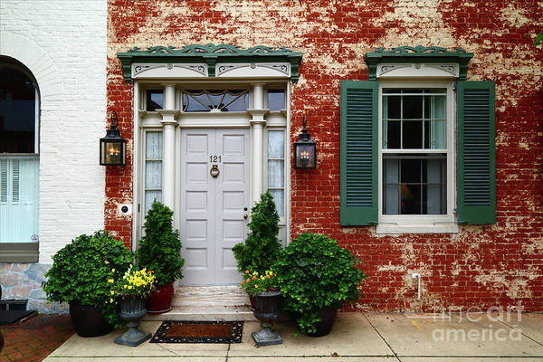 Photograph - Historic House In Frederick Maryland by James Brunker