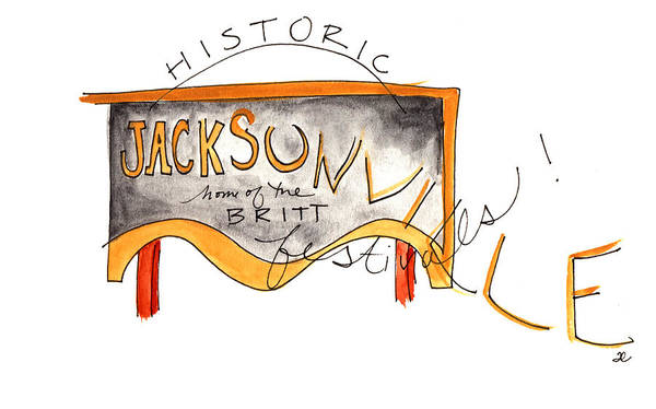 Painting - Historic Jacksonville by Anna Elkins