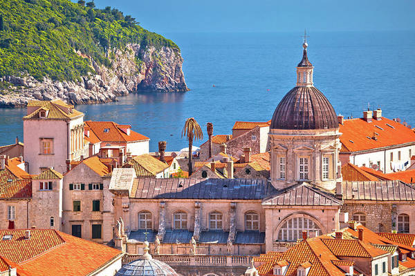 Lokrum Photograph - Historic Landmarks Of Old Dubrovnik And Lokrum Island View by Brch Photography