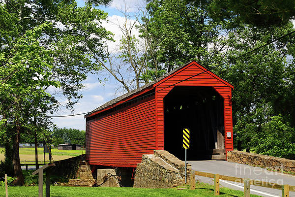 Photograph - Historic Loys Station Covered Bridge Maryland by James Brunker