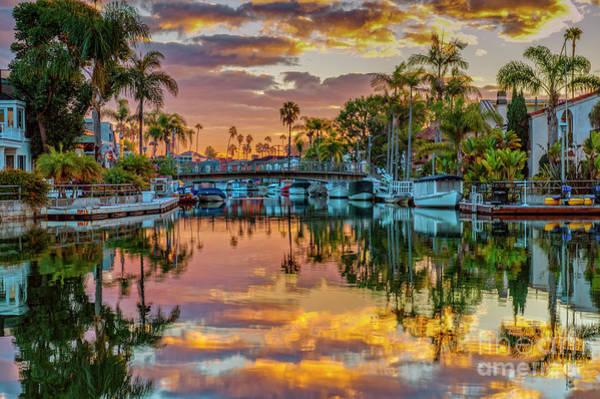 Wall Art - Photograph - Historic Naples Canal Sunset by David Zanzinger