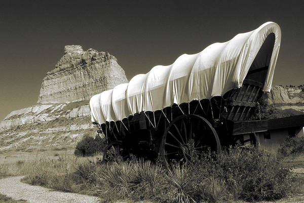 Photograph - Historic Oregon Trail - Vintage Photo Art Print by Peter Potter