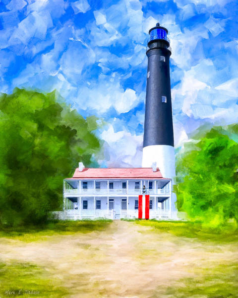 Wall Art - Mixed Media - Historic Pensacola Light by Mark Tisdale