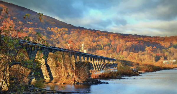 Norfolk Southern Wall Art - Photograph - Historic Rockville Bridge by Lori Deiter