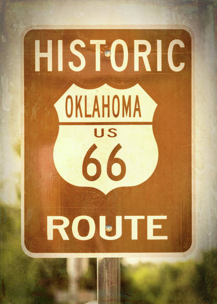 Wall Art - Photograph - Historic Route 66 - Oklahoma by Stephen Stookey