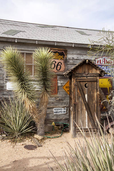 Historic Route 66 - Outhouse 1 Art Print