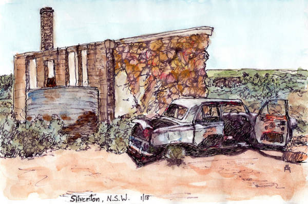 New South Wales Drawing - Historic Ruins by Anne Huth