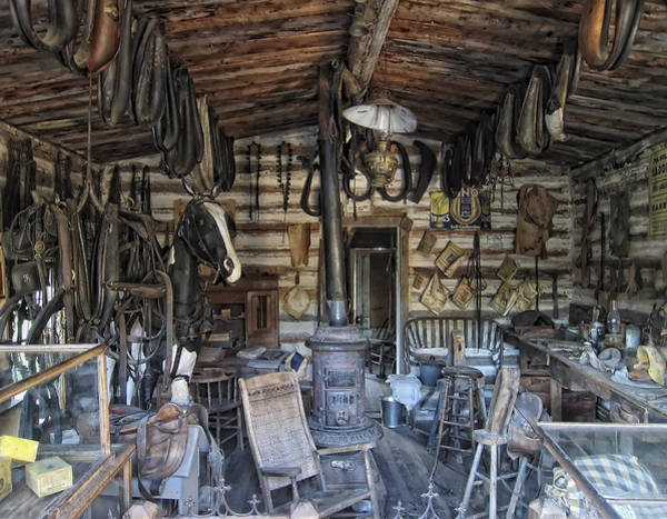 Ghosttown Photograph - Historic Saddlery Shop - Montana Territory by Daniel Hagerman