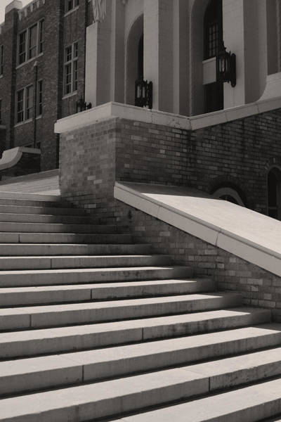 Wall Art - Photograph - Historic Steps Little Rock Central High School by Brian M Lumley