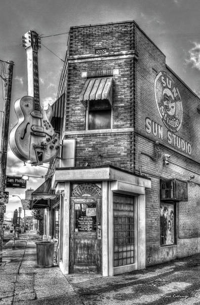 Wall Art - Photograph - Historic Sun Studio B W Memphis Tennessee Art by Reid Callaway