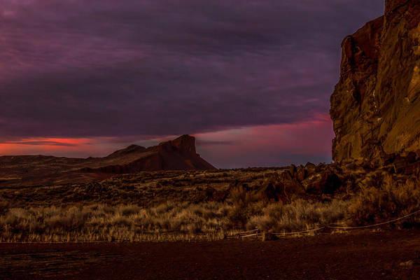 Lava Lakes Photograph - Historic Sunset by Marnie Patchett