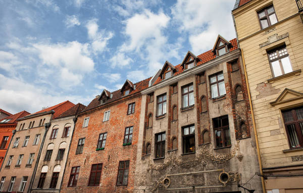 Tenement Photograph - Historic Tenement Houses In Torun Old Town by Artur Bogacki