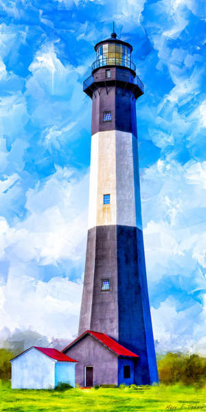 Mixed Media - Historic Tybee Island Lighthouse by Mark E Tisdale