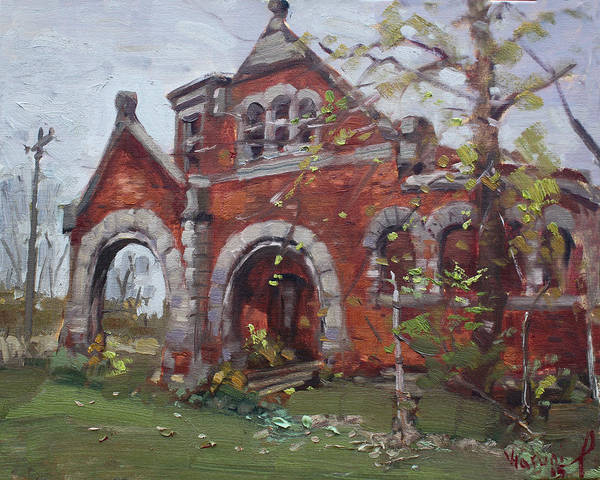 Station Wall Art - Painting - Historic Union Street Train Station In Lockport by Ylli Haruni