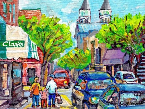 Painting - Historic Verdun Church Eglise Des Sept Douleurs Verdun Canadian Art Canadian Cityscene Art C Spandau by Carole Spandau