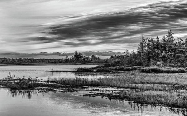 Photograph - Historic Whitebog Landscape Black - White by Louis Dallara