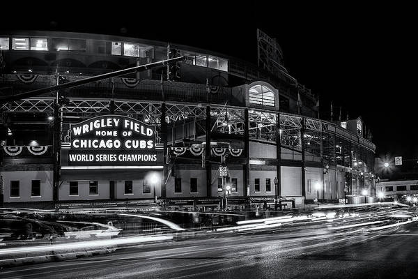 Chicago Black White Wall Art - Photograph - Historic Wrigley Field by Andrew Soundarajan