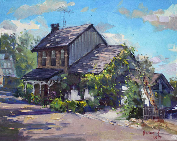 Wall Art - Painting - Historical House Ontario by Ylli Haruni