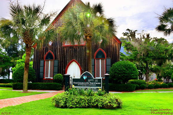 Photograph - Historical Landmark Church Of The Cross Bluffton Sc by Lisa Wooten