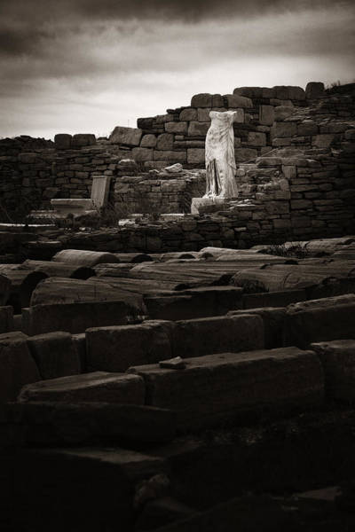 Photograph - Historical Ruins In Delos by Songquan Deng