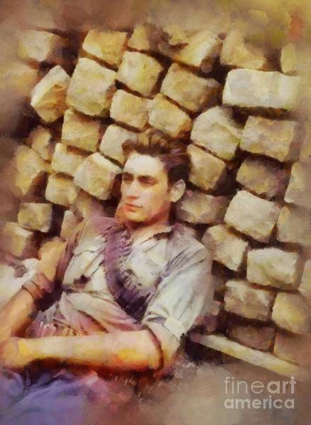 Dday Wall Art - Painting - History In Color. French Resistance Fighter, Wwii by Sarah Kirk