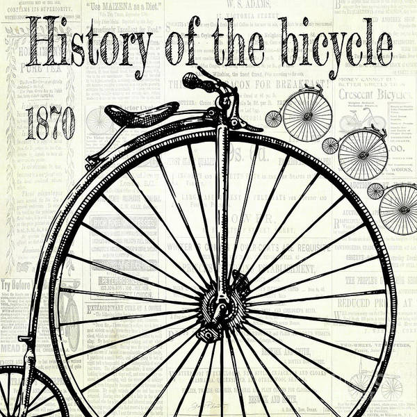 Advertisement Digital Art - History Of The Bicycle D by Jean Plout