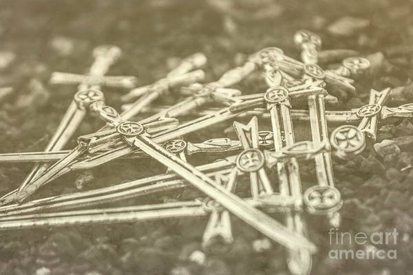 Silver Photograph - History Of The Sword by Jorgo Photography - Wall Art Gallery