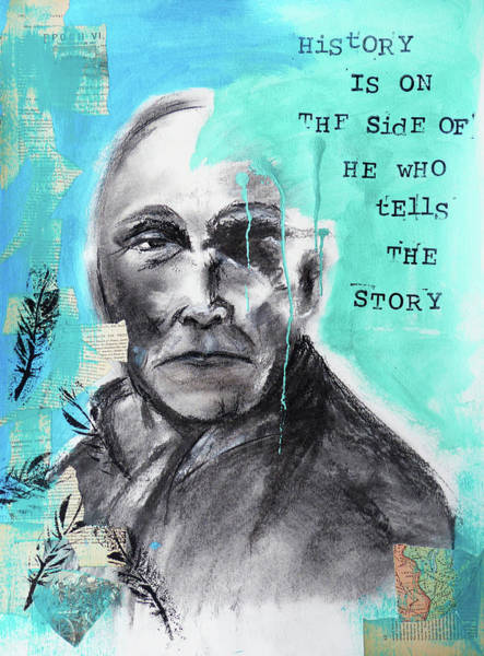 Native Mixed Media - History's Tellers by Lynn Colwell