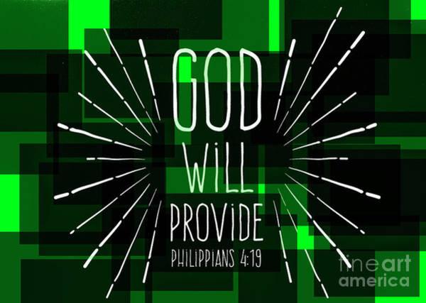 Photograph - Hisworks Godart 3 Philippians 4 19 The Truth Bible Art by Reid Callaway
